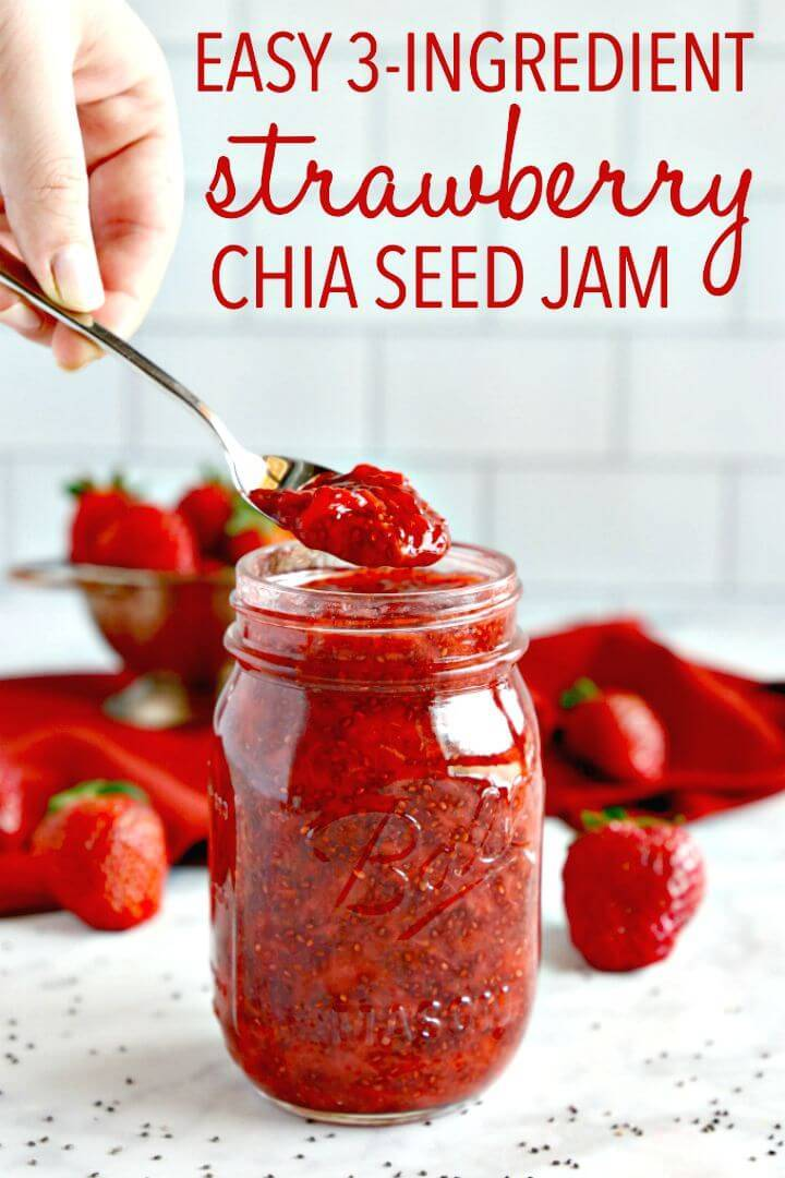 3-ingredient Chia Seed Strawberry Jam Recipe