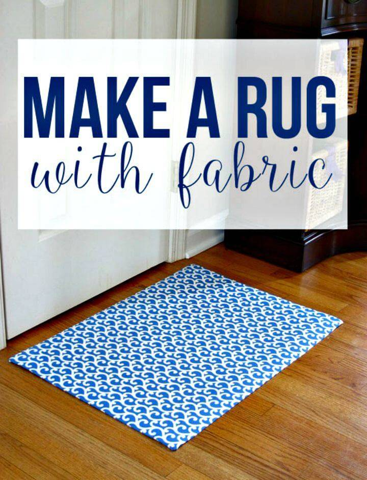 How to Make a Custom Rug Out Of Fabric: