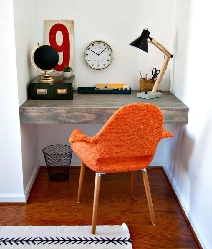How to Make a Floating Corner Desk
