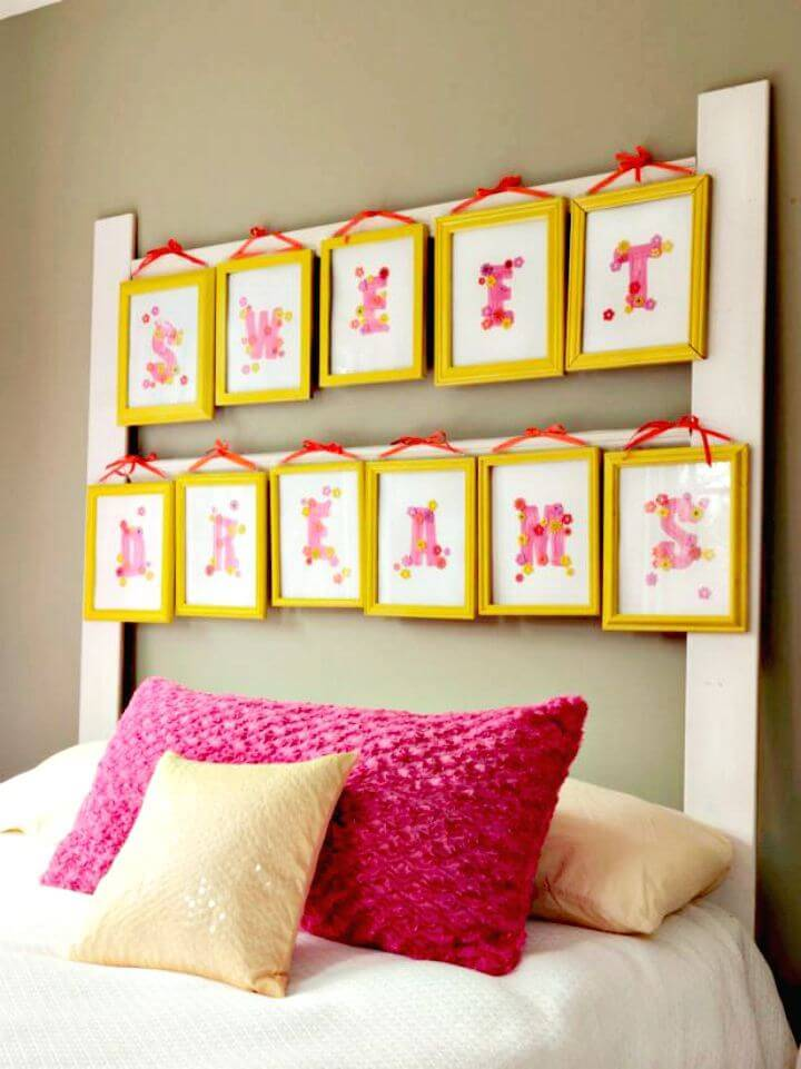 Make A Headboard with Picture Frames - DIY