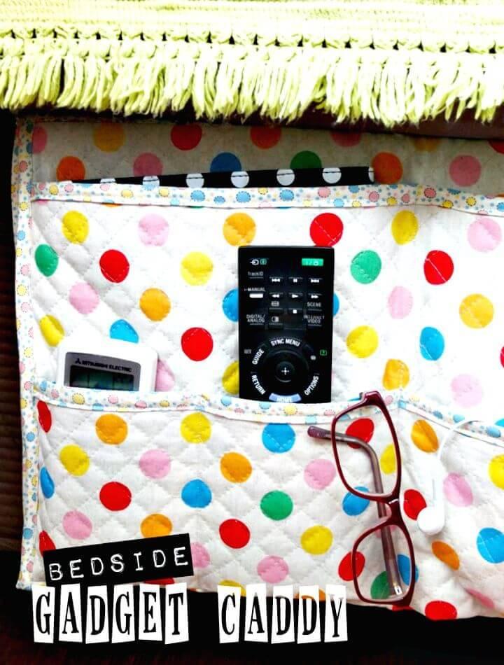DIY Bedside Gadget Caddy and Stuff Organiser
