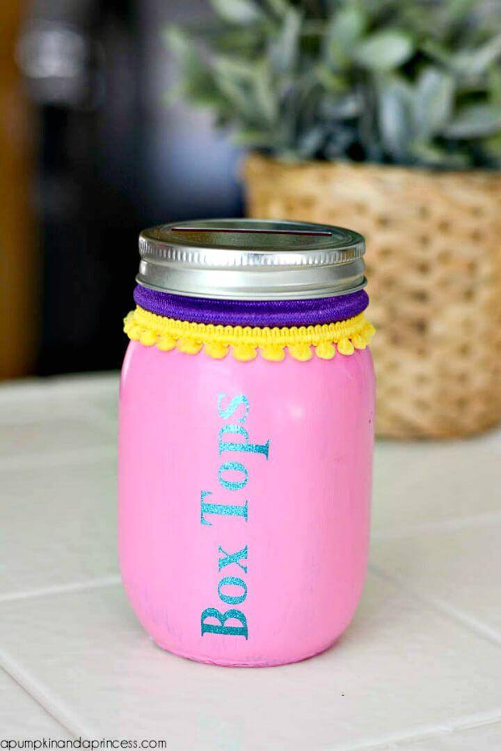 Awesome DIY Box Tops Mason Jar