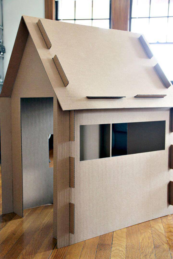 Simple DIY Cardboard Play House