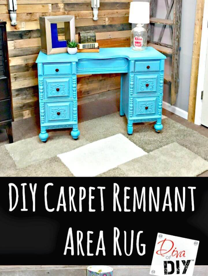 Make Carpet Sample Area Rug On A Budget - DIY