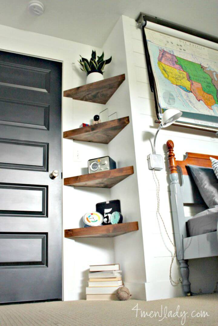 DIY Corner Floating Shelves