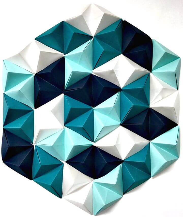 DIY Geometric Paper Wall Art