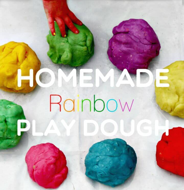 Homemade Rainbow Playdough