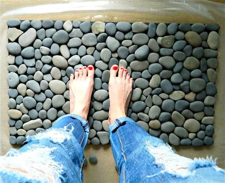 DIY Ocean Stone Bath Mat