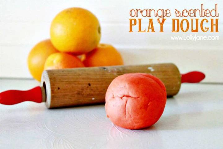 Orange Scented Playdough Recipe