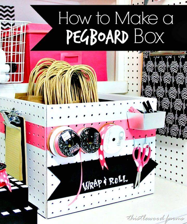 How to Make Peg Board Box - DIY