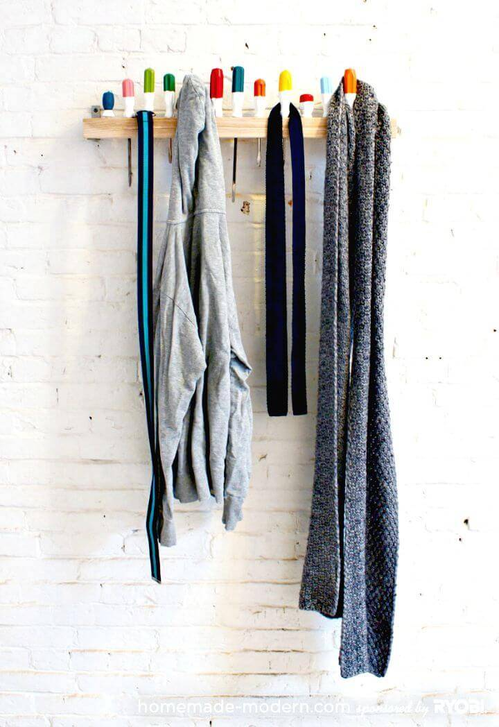 DIY Screwdriver Coat Rack