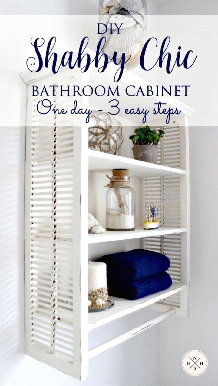 Make Shabby Chic Bathroom Cabinet - DIY