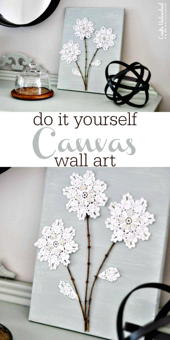 Make Shabby Chic Canvas Wall Art