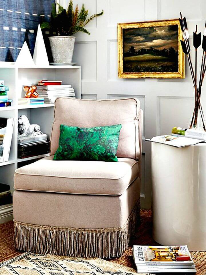 How to Update Sofa with Bullion Fringe - DIY