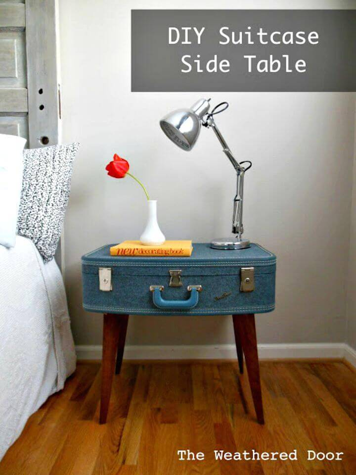 Easy DIY Suitcase Side Table