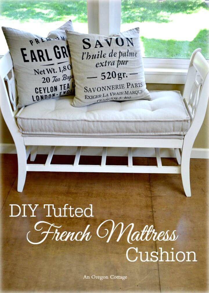 DIY Tufted French Mattress Cushion