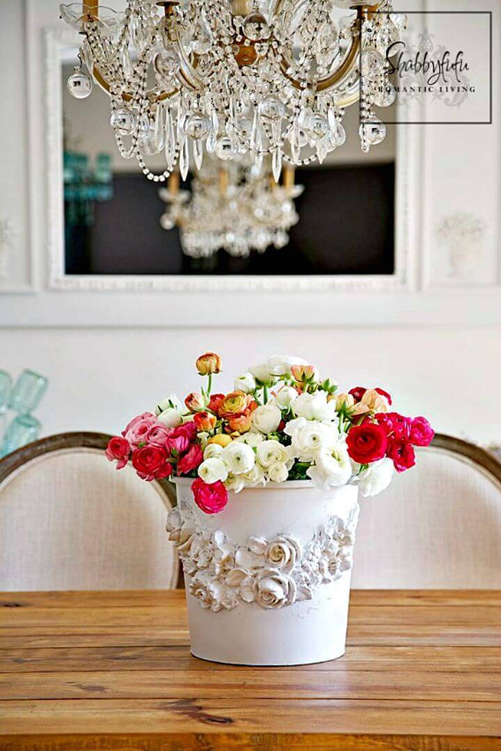 Make Your Own Floral Bucket - DIY Shabby Chic Home Decor