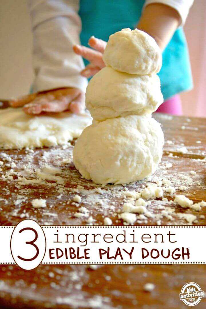 Only 3 Ingredients Edible Play-dough