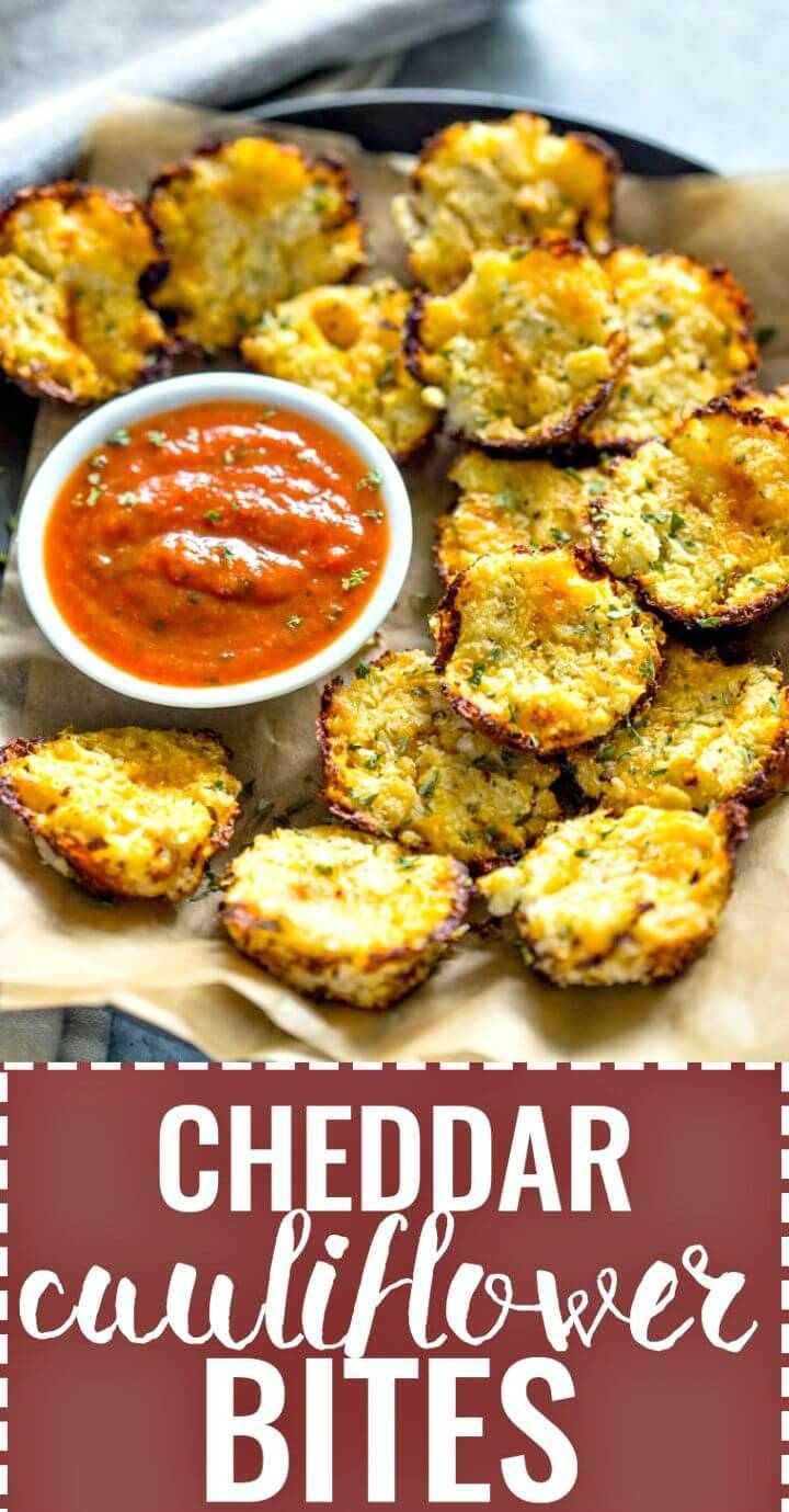 Baked Cheddar Cauliflower Bites Recipe