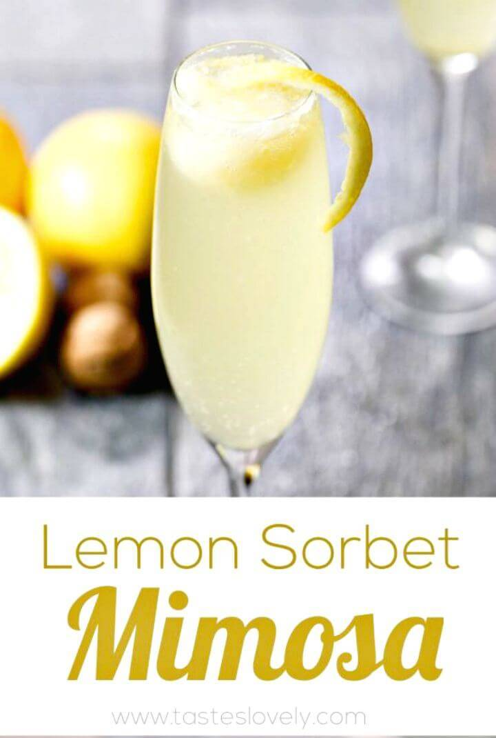 Prepare Lemon Sorbet Mimosa