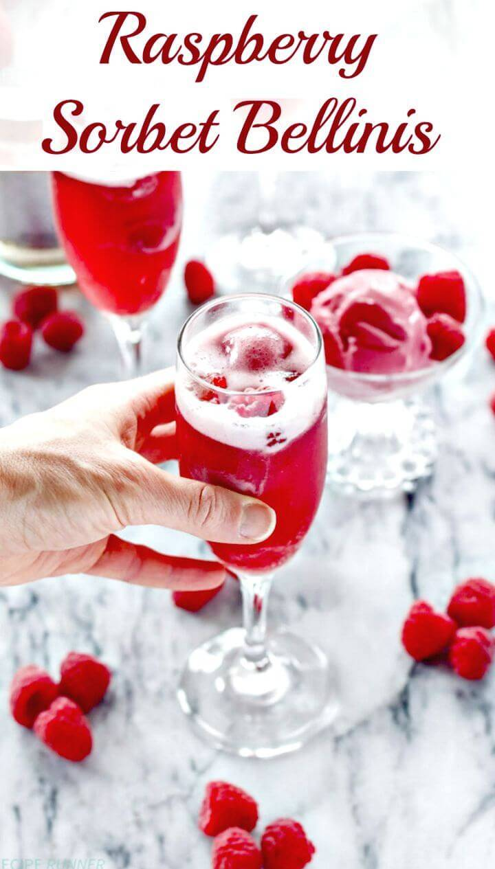 Sweet Raspberry Sorbet Bellinis Recipe