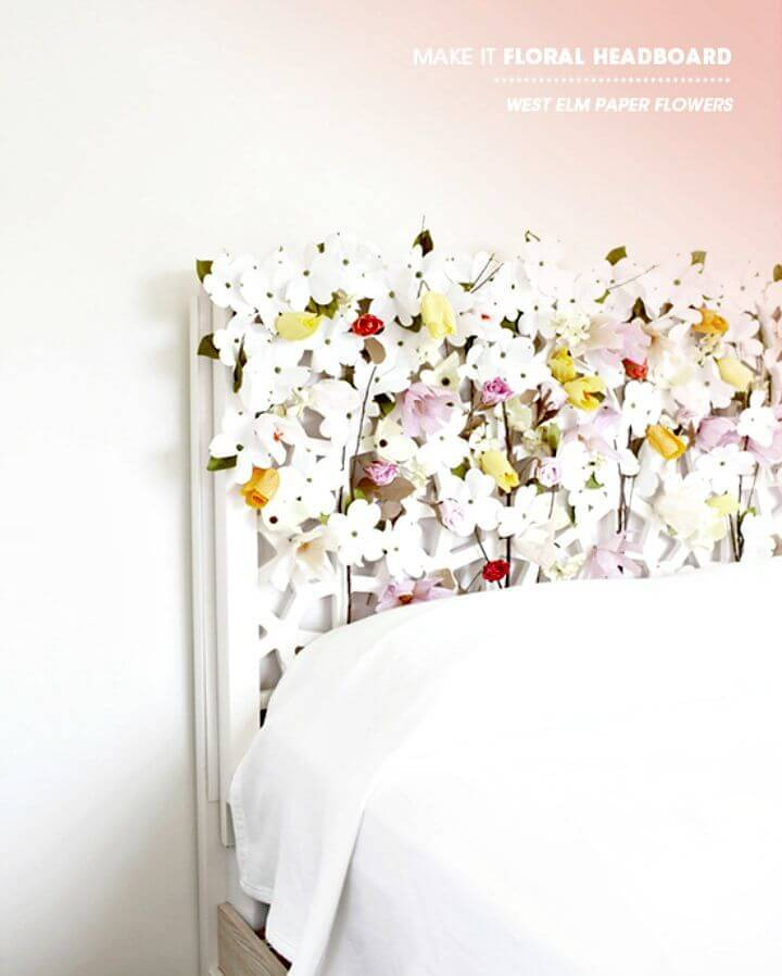 Pretty DIY Floral Headboard