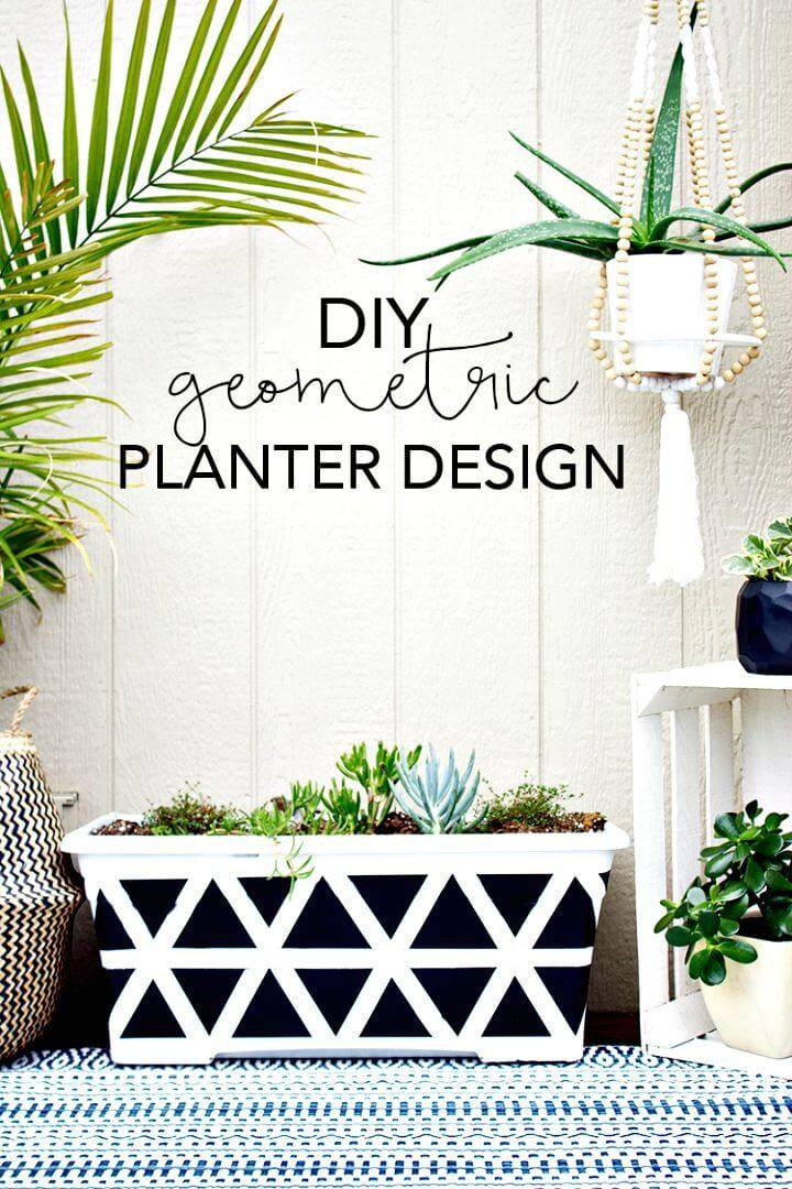 DIY Geometric Planter Design to Add Some Greenery