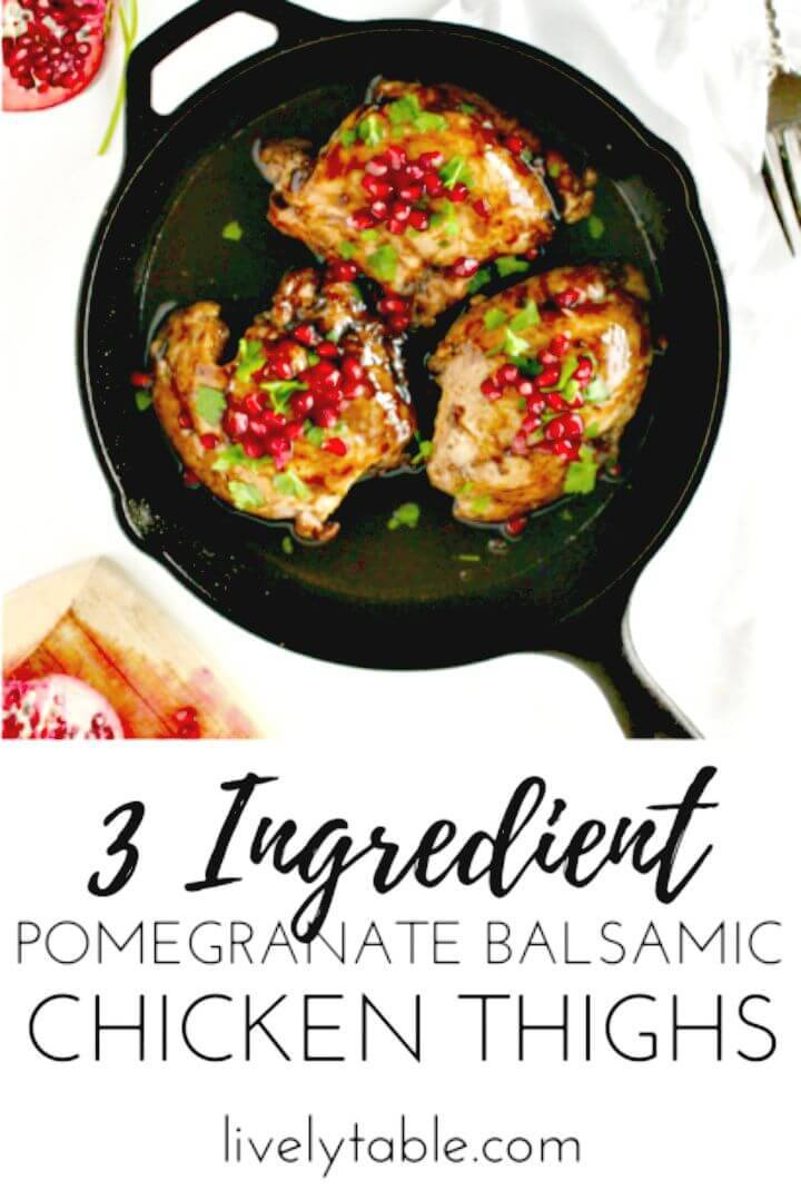 Pomegranate Balsamic Chicken Thighs Recipe