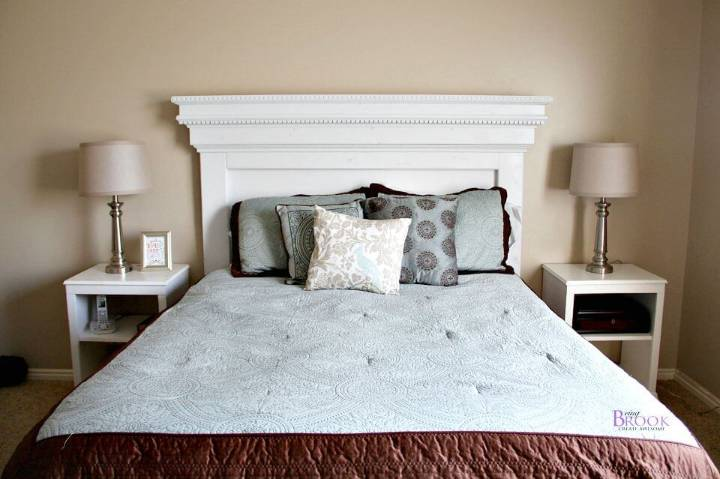 DIY Mantel Moulding Headboard