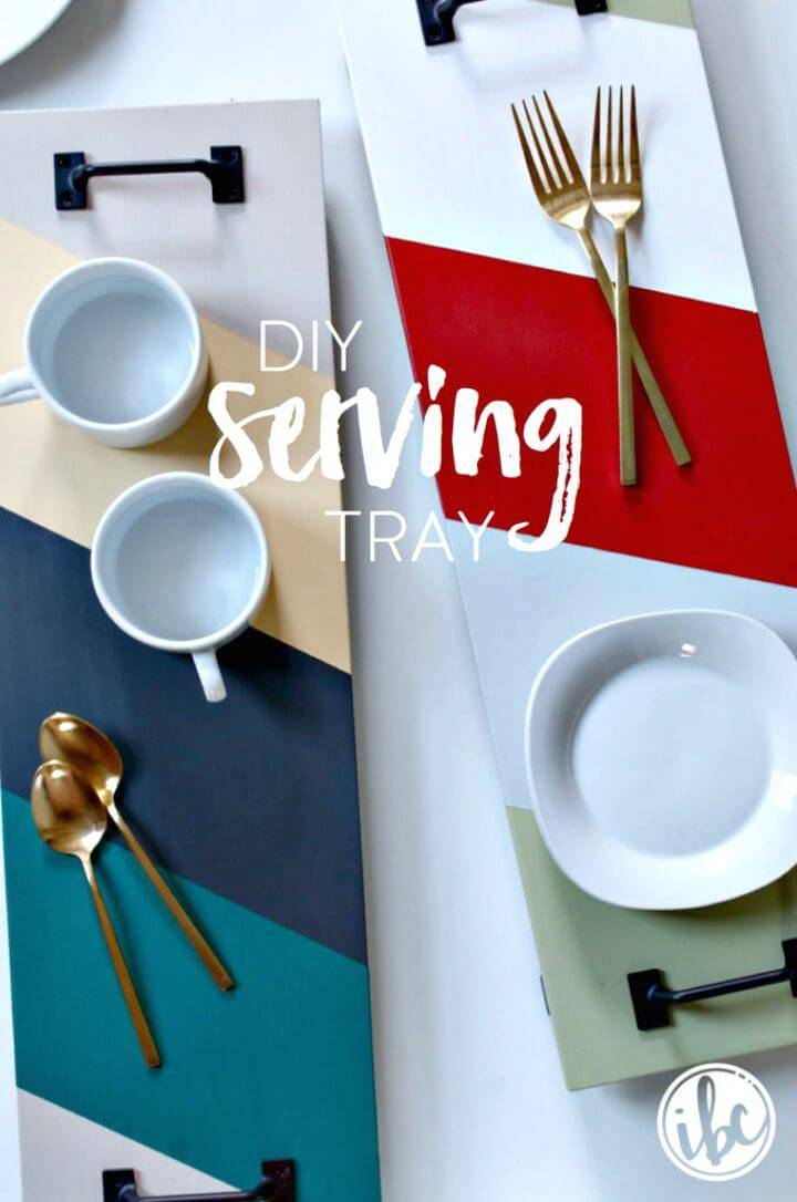 DIY Painted Wood Serving Tray