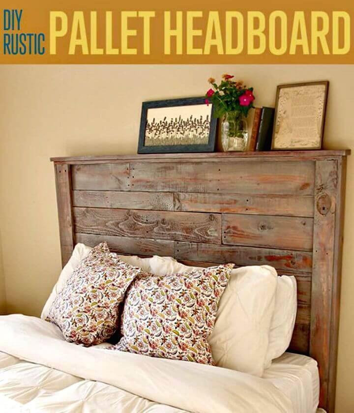 Build Rustic Pallet Headboard - DIY