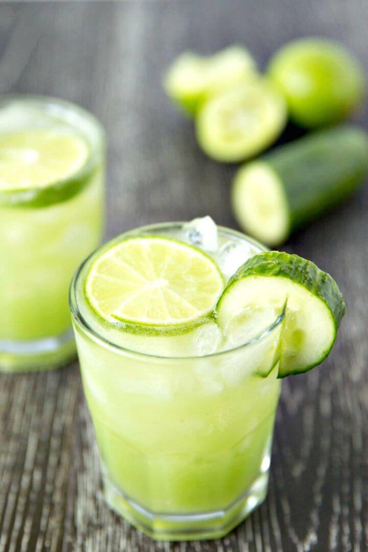 Refreshing Cucumber Lime Margaritas Recipe