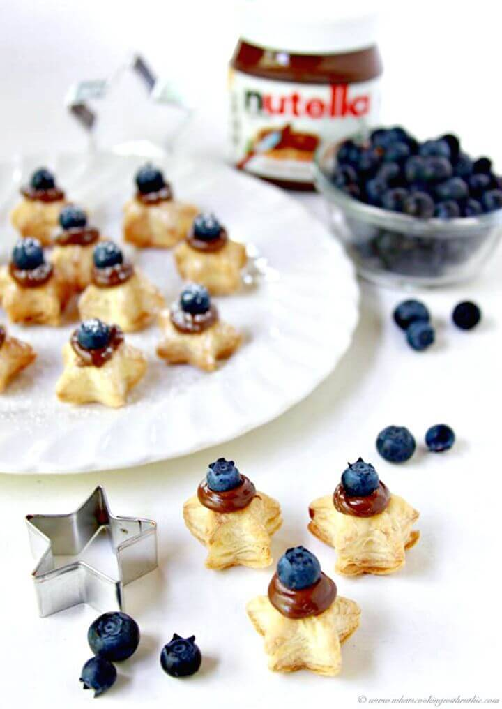 Summer Blueberry Nutella Pastry Stars Recipe