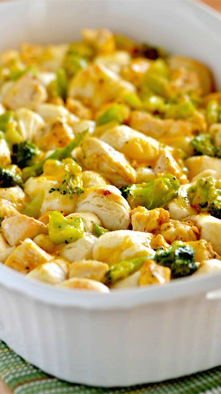 Tasty 3-ingredient Chicken and Broccoli Bubble Up Recipe