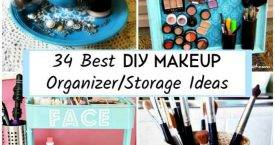 34 Best DIY Makeup Organizer-Storage Ideas, DIY Crafts, DIY Projects, DIY Craft Ideas, DIY Home Decor Projects, DIY Organizer Ideas