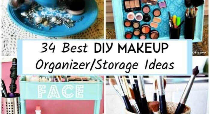 34 Best DIY Makeup Organizer-Storage Ideas, DIY Crafts, DIY Projects, DIY Craft Ideas, DIY Home Decor Projects, DIY Organizer Ideas