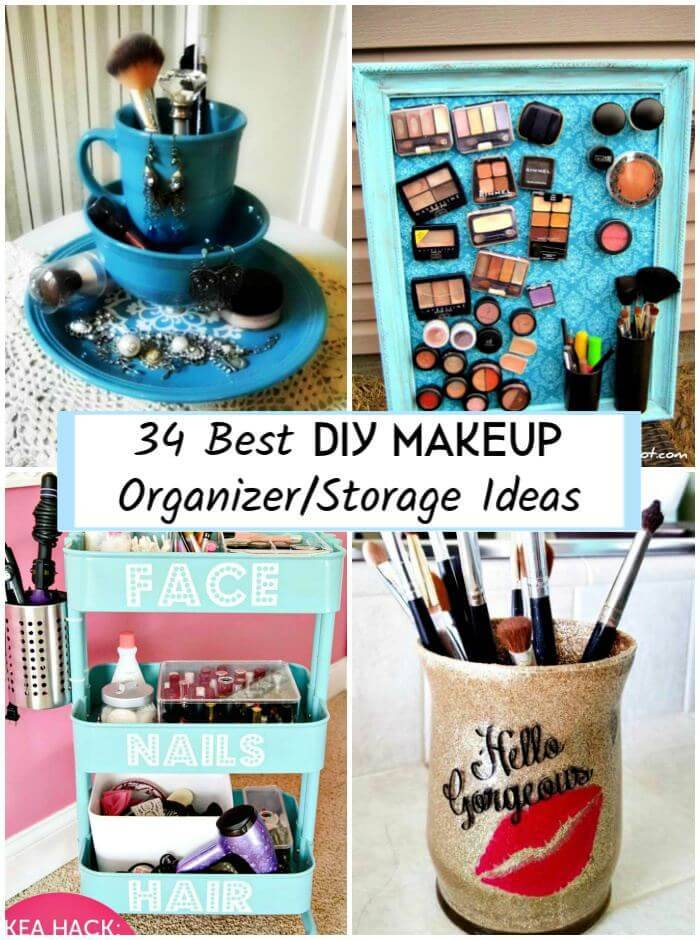 34 Best Diy Makeup Organizer Storage Ideas Diy Crafts