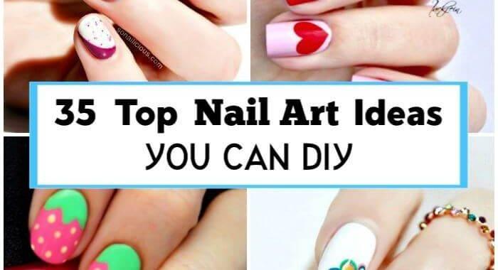 35 Top Nail Art Ideas You can DIY, Easy Nail Designs, DIY Fashion Projects, DIY Craft Ideas, DIY Crafts, DIY Projects