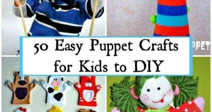50 Easy Puppet Crafts for Kids to DIY, DIY Crafts for Kids, Kids Crafts, Easy Craft Ideas for Kids, DIY Crafts, DIY Projects for Kids, DIY Art and Crafts