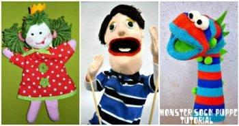 50 Easy Puppet Crafts for Kids to DIY, DIY Crafts for Kids, Kids Crafts, Easy Craft Ideas for Kids, DIY Crafts, DIY Projects for Kids, Easy DIY Art and Crafts
