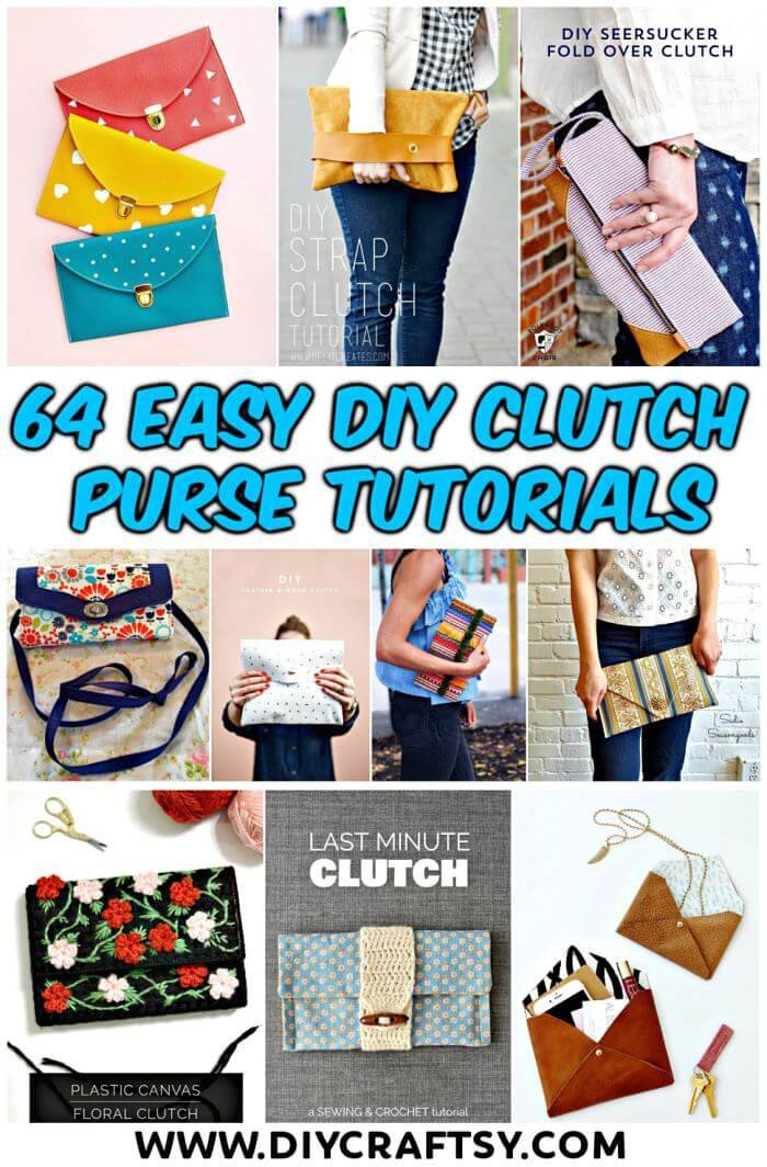 64 Easy DIY Clutch Purse Ideas - DIY Fashion Projects, DIY Crafts, DIY Projects, DIY Clutches, DIY Purses, DIY Craft Ideas