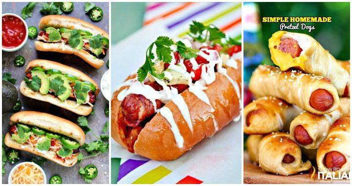 65 Easy Hot Dog Recipes, bunless hot dog recipes, healthy hot dog recipes