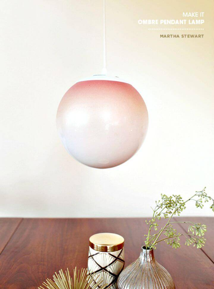 Awesome DIY Ombre Pendant Indoor Light