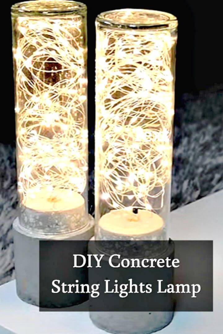DIY Concrete Lamp Led String Light - Indoor Lighting Ideas