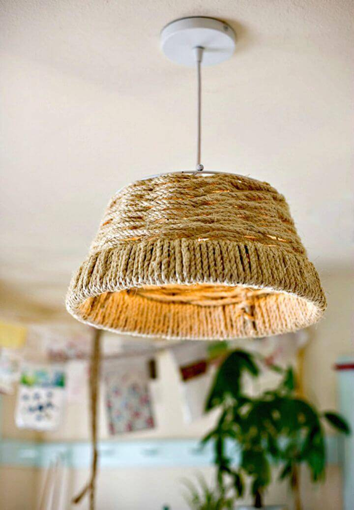 How to DIY Woven Rope Pendant Lamp