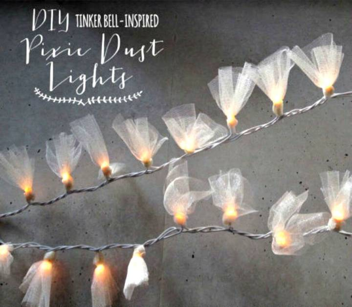 Easy To Make Pixie Dust Lights - DIY Indoor Lighting Ideas