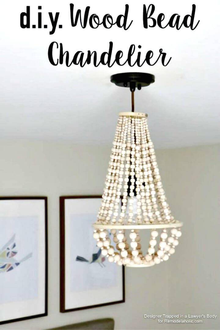 How to Make Wood Bead Chandelier