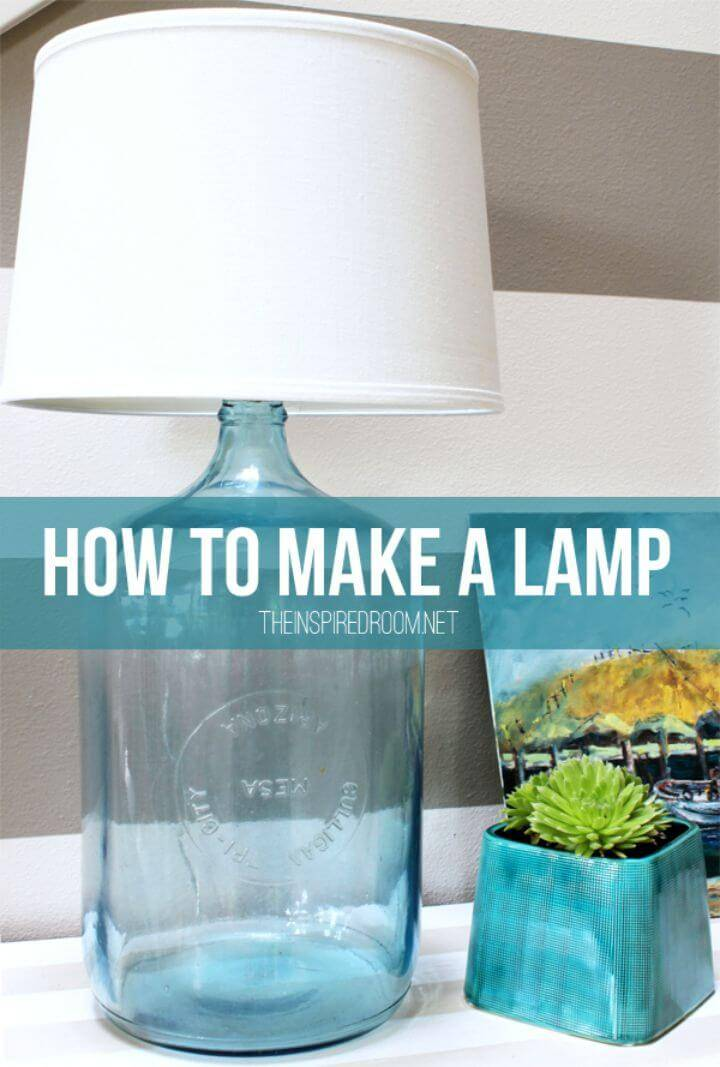 How To Make Bottle Lamp - DIY Indoor Lighting Ideas