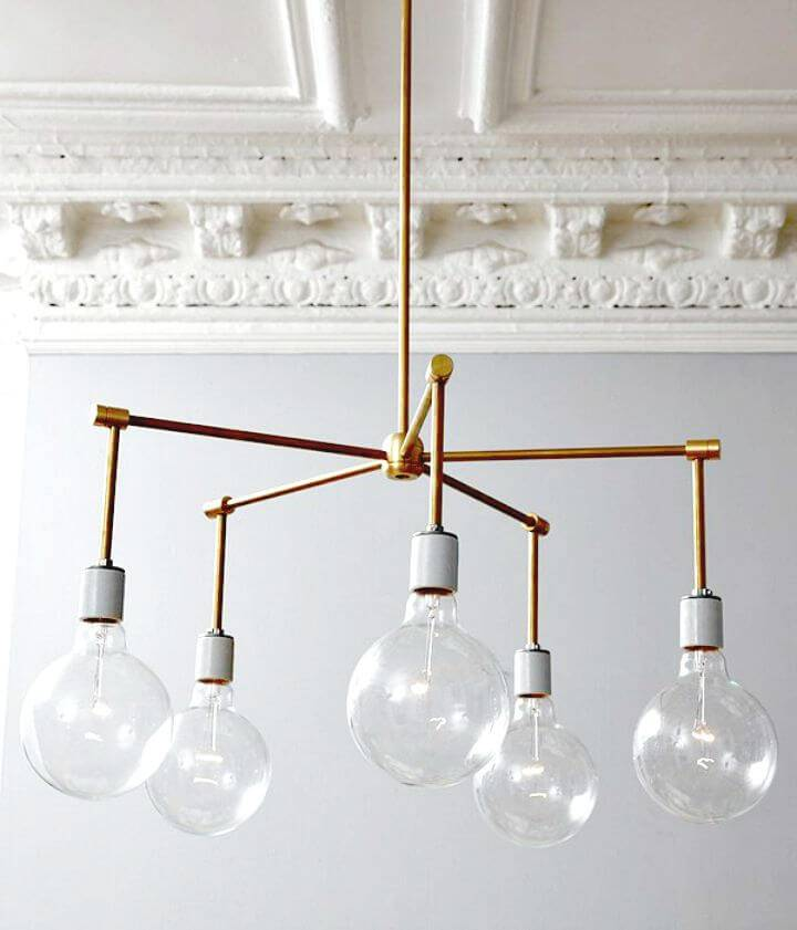 Awesome DIY Brass Chandelier - Indoor Lighting Ideas