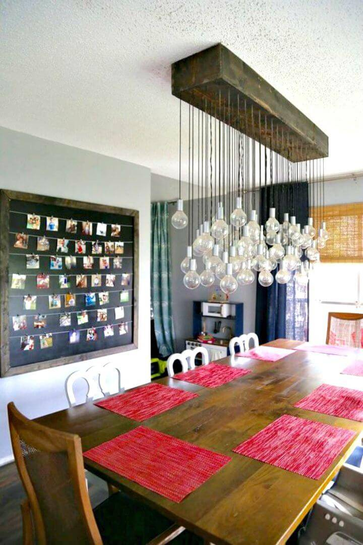 DIY Multi-bulb Dining Room Chandelier